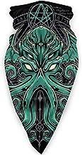 Cthulhu Neck Gaiters Bandana Scarf Balaclava Face Mask for Men Women Black