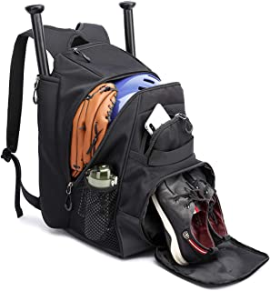 Thinksea Baseball Bag - Baseball Backpack With Fence Hook, T-Ball  Softball Equipment Gear for Youth and Adults - Holds Bat, Helmet, Glove, Shoes