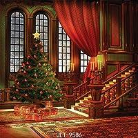 GooEoo 8 x 8フィートクリスマステーマ絵布カスタマイズされた写真背景の背景スタジオプロップJLT-9586