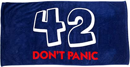 getDigital Bath Towel 42 Don't Panic - Large Beach Towel for Fans of The Hitchhiker's Guide to the Galaxy - 140 x 70 cm, 1...