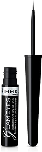 Rimmel London Glam'Eyes Professional Liquid Eye Liner, Black Glamour 3.5 ml