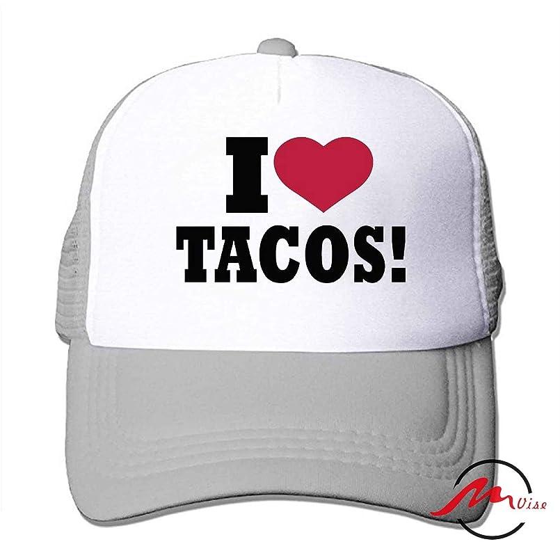 発生器ヒロイックリンクZMvise I Love Tacos 男女兼用の十代の大人の習慣はかわいい野球帽のトラック運転手の網の帽子を印刷しました