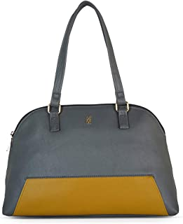 Baggit Autumn/Winter 2020 Faux Leather Women's Bowling Handbag (Grey) (Dnox)