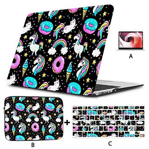 Macbook Pro 13inch Case Cute Animal Unicorn Rainbow Donut Star Macbook 15 Case Hard Shell Mac Air 11'/13' Pro 13'/15'/16' With Notebook Sleeve Bag For Macbook 2008-2020 Version