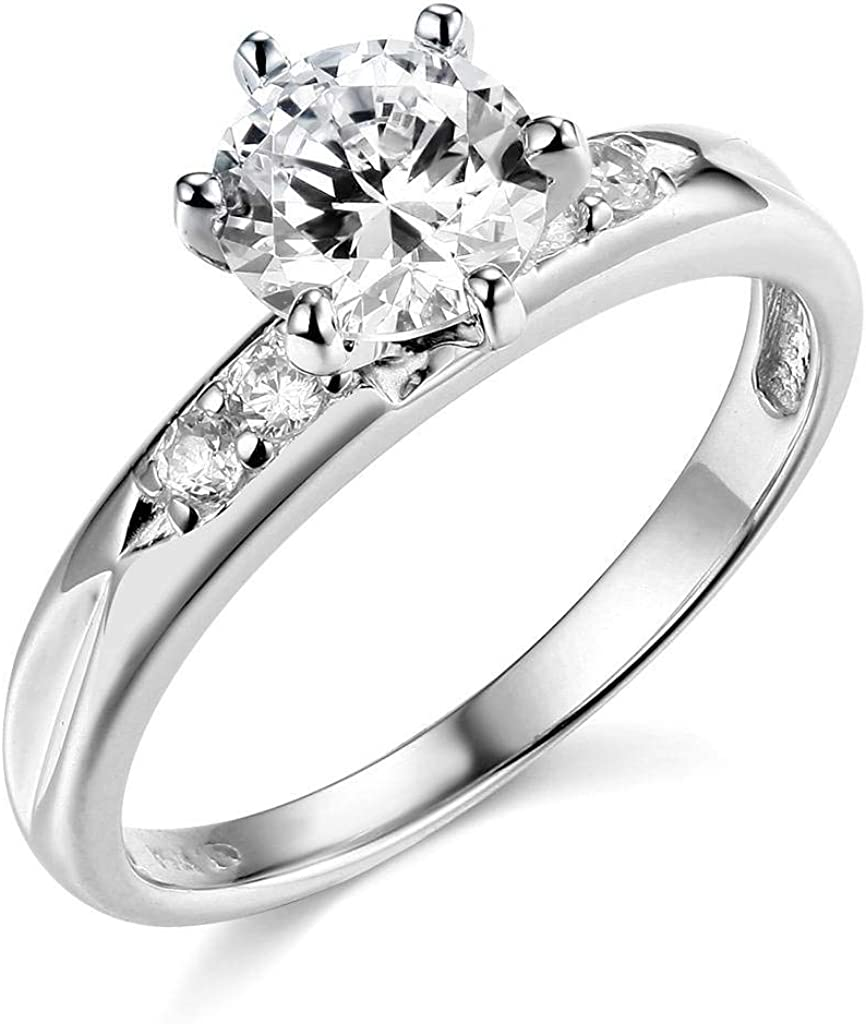 SFP 14k Yellow OR White Gold SOLID Wedding Engagement Ring