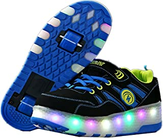 BY0NE Light up Trainer Roller Skates Sport LED Flashing Shoes for Kids Adults for Christmas Gift Halloween
