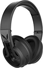 Playboy Icon 1 Wireless Headphones Bluetooth Headphone, Best Performance, Better Leather Over Ear Comfort, Built-in Microphone, Noise Isolating Sound, Best – Value Price, Black