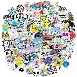 Cartoon Laptop Sticker for Teen Kids, Waterproof Vinyl Decal for Skateboard Water Bottle Computer Travel Case Guitar…