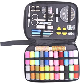 Sewing Kit Bundle 97 Sewing Accessories 24 Spools of Thread -24 Color Mini Sewing Kits,Traveller Emergency Whole Family to Mend and Repair Tape Measure for Beginners Mending & Sewing Needs