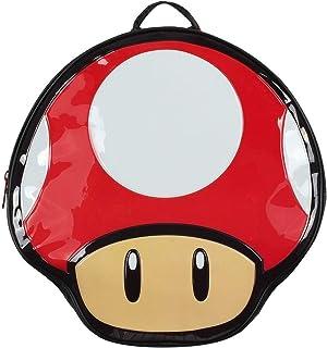Nintendo Super Mario Bros. Mochila con forma de seta, multicolor (Bp990401Ntn) Mochila informal, 41 cm, 10 L, color rojo