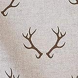 Stoff Meterware Baumwolle Natur Geweih Hirsch Jagd Herbst