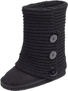 Women's Rib Knit 3 Button Sweater Boots
