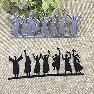 Happy Graduates Cutting Dies,Letmefun Metal Cutting Dies Stencils for Card Making Decorative Embossing Suit Paper Cards DIY