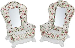 Resina y cristal joyas organizadores para silla de Inglés de rosas Floral rústico de joyería (2piezas 45x 575x 4pul...