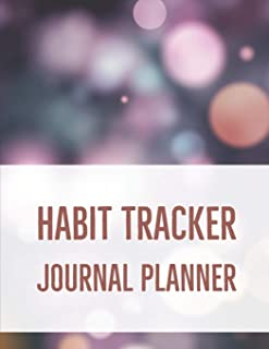 Habit Tracker Journal Planner: 24 Month Habit Tracker Calendar to Help You Track Your Habits 8.5 x 11 Inches Notebook (Vol...