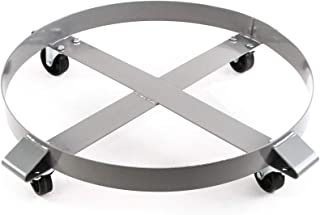 Heavy Duty Drum Dolly 1000 Pound - 55 Gallon Swivel Casters Wheel Steel Frame Non Tipping Hand Truck Capacity Dollies