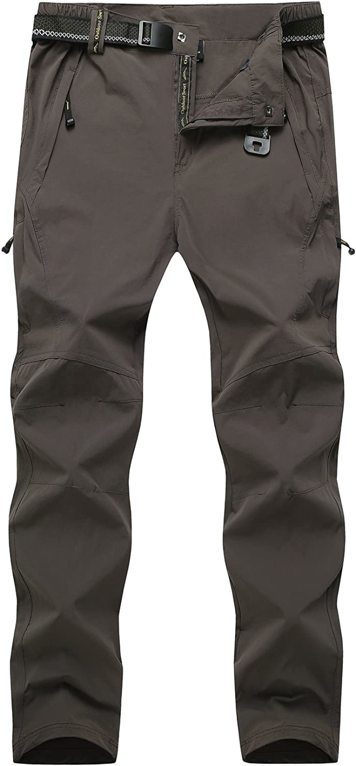 Cranelin Men's Outdoor Hiking Pants Breathable Quick Dry Mountain Pants