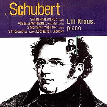 Schubert: Sonate in A Major, Valses sentimentales, Moments musicaux, Impromptus, Ecossaises & Laendler
