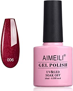 AIMEILI Soak Off UV LED Gel Nail Polish - Cherry Blossom (006) 10ml