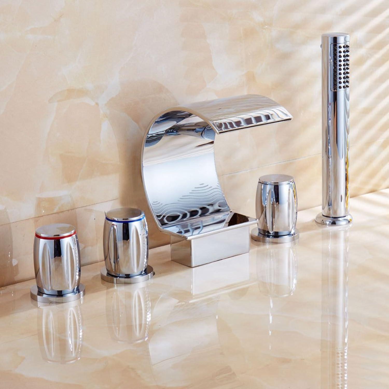 LPW faucet European basin faucet bathtub hot faucet retro double double open faucet five sets faucet