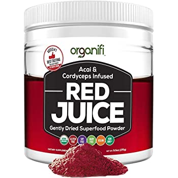 Organifi: Red Juice- Organic Superfood Supplement Powder - 30-Day Supply - Supports Immunity, Skin Health and Weight Loss Management - Anti-Aging Properties