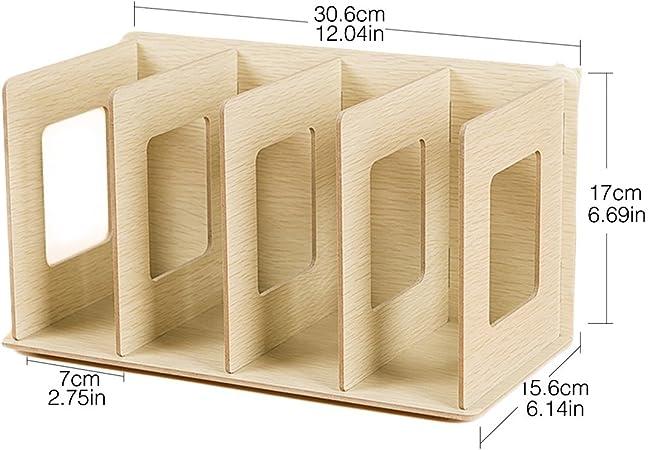 Fokom Holz Cd Regal Dvd Regal Bücherregal Cd Ständer Dvd Ständer Cd Ablage Regal Eiche Küche Haushalt
