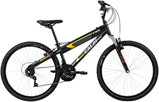 Bicicleta Caloi Mtb Trs Aro 26-21 Velocidades Preta Fosco