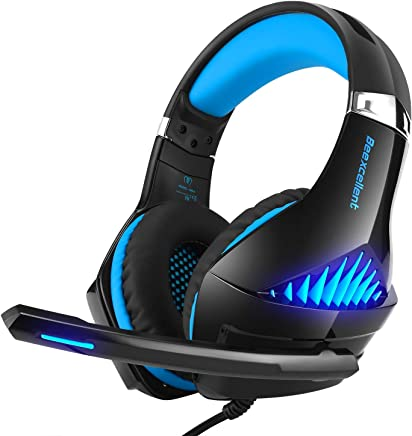 $22 Get Gaming Headset,Proslife Game Headset with LED Lighting 3.5mm Surround Sound Noise Cancelling Microphone for Laptop, Desktop, MAC, Xbox, PS4, Phone Tablet