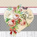 Tovaglioli di carta monouso, La chiave del mio cuore , 20 pezzi 3 strati - 33 x 33