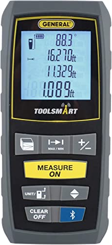 discount General Tools 2021 TS01 high quality 100' Laser Measure, Bluetooth Connected, Calculates Area, Distance and Volume, Real-Time Measuring online