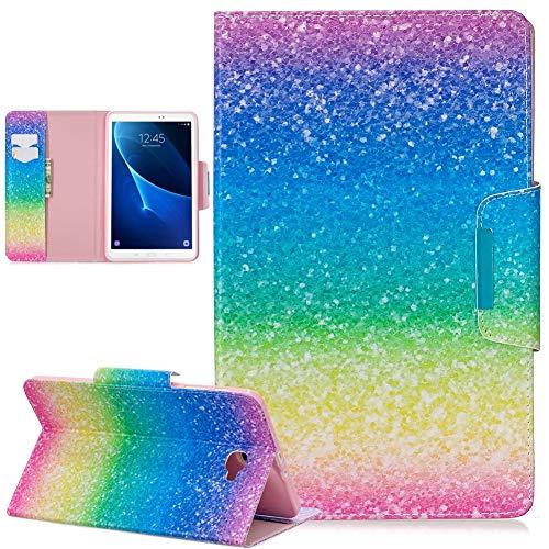 QiuKui Tab Funda Para Samsung Galaxy Tab A 6 10.1 pulgadas SM-T585 T580N 2016, Funda protectora magnética a prueba de golpes Imprimir PU CUBIERTE FLIP CUBIERTE PARA SAMSUNG GALAXY TAB A A6 10.1 pulgad