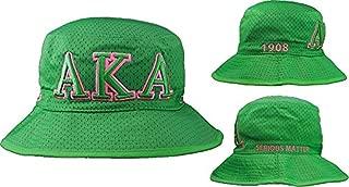 Alpha Kappa Alpha Green Embroidered Bucket Hat