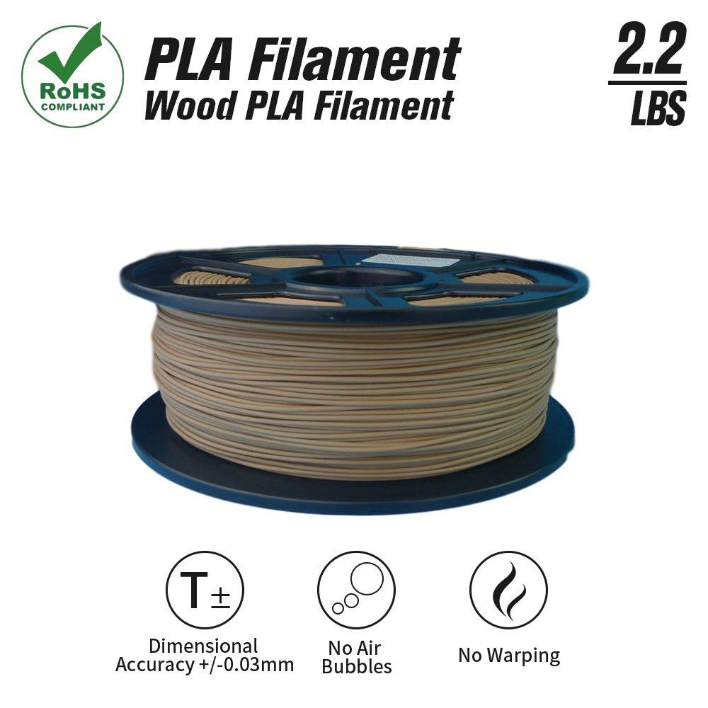 Suntop Pla 3d impresora filamento 1,75 mm Madera PLA RoHS, 1 kg ...