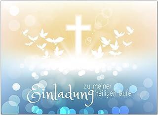 K74 Einladungskarten Zur Taufe Mit Innentext Für Jungen Und