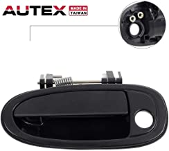 AUTEX 1pc Black Exterior Outer Front Left (Driver Side) Door Handle Compatible with Toyota Avalon 1995 1996 1997 1998 1999