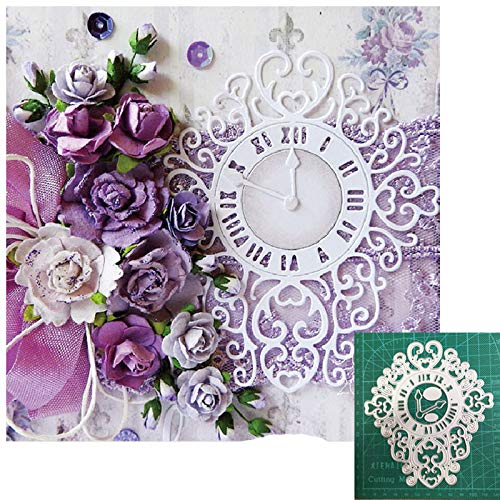 Craft Metal Cutting Dies Cut Mold Lace Clock Frame Decoration die Paper Craft Knife Mould Blade Punch Stencils Dies-Army Green