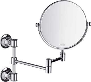 Axor 42090820 Montreux 7-3/4-In Double-Sided Round Mirror, Brushed Nickel