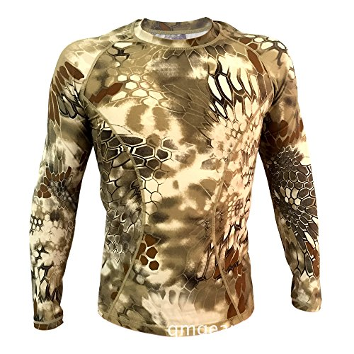 Webetop Maglietta a maniche lunghe tattico Quick Dry Sport T-shirt Tees, M, Tan