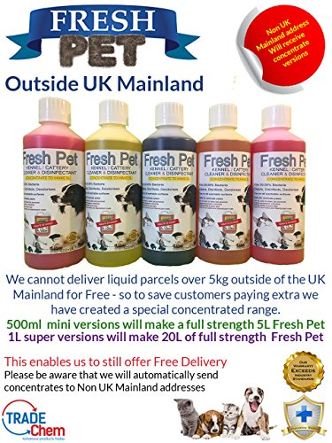 Trade Chemicals FRESH PET DISINFECTANT CLEANER PACK - ECO REFILL TO MAKE 4 X 5L (LAVENDER) 5