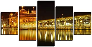 DuDuDu Wall Art Frameless Home Living Room Bedroom HD Art Base Canvas Golden Temple Painting core Spray Painting