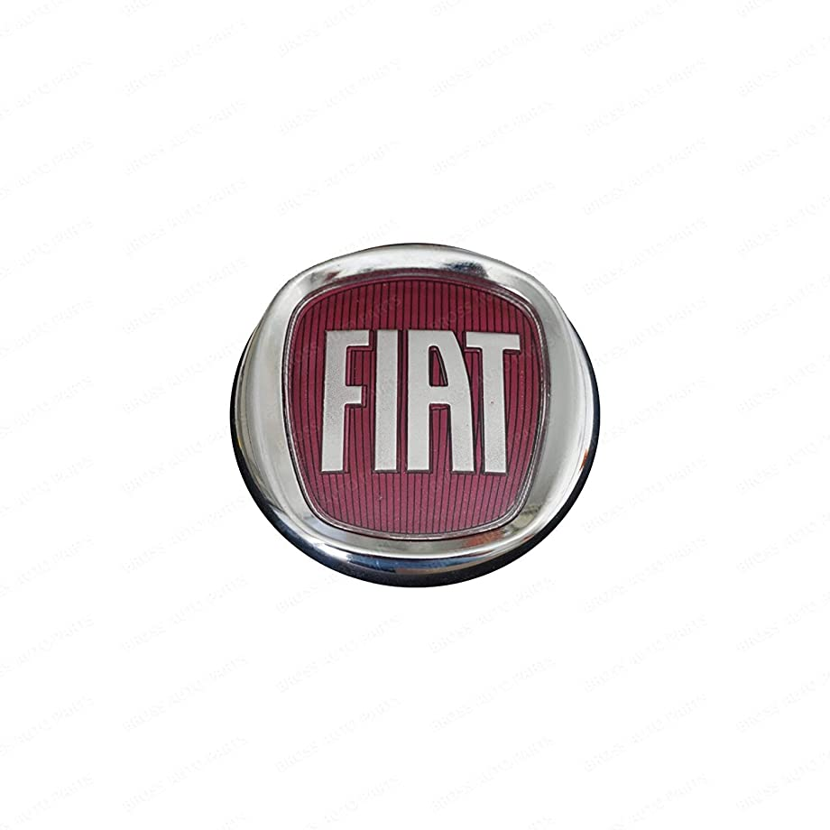 Bross BSP831FBA Rear Boot Badge Decal Crest Red Logo 95mm For FIAT DOBLO, PALIO, LINEA 735451029