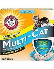 رمل مكتّل لفضلات القطط، حجم مناسب لعدة قطط (غير معطر) 9.7 كغم