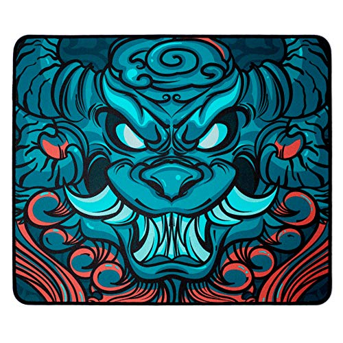 Esports Tiger EBA Gaming Mouse Pad - Stitched Edges, Rubber Base, Optimized for Control, Large (480 x 400 x 4mm)