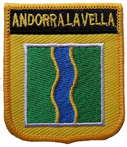 1000 Flaggen Andorra La Vella Spanien Schild Bestickt Aufnäher