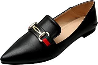 Womens Classic Pointy Toe Ballet Flats Slip On Comfort Dress Shoes