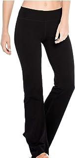 Houmous (S-XXL) Petite/Regular/Tall LengthWomen's Yoga Bootleg Pants Inner Hidden Pocket Workout Pants (BlackXXL)