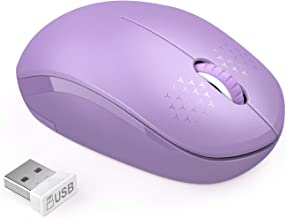 seenda Wireless Mouse, 2.4G Noiseless Mouse with USB Receiver Portable Computer Mice Cordless Mouse for PC, Tablet, Laptop - Purple