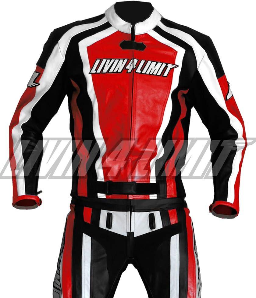 4limit Sports Motorrad Lederkombi Laguna Seca Zweiteiler Rot Schwarz Weiß Größe Xxs Auto