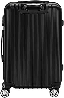 XuetongXT Luggage Suitcase, 3 Pieces of 20 Inch, 24 Inch and 24 Inch and 28 Inch Luggage Travel Bags ABS Trolley Suitcase ...