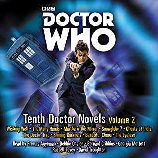 Doctor Who: Tenth Doctor Novels Volume 2     10th Doctor Novels              By:                                                                                                                                 Trevor Baxendale,                                                                                        Dale Smith,                                                                                        Justin Richards                               Narrated by:                                                                                                                                 David Troughton,                                                                                        Freema Agyeman,                                                                                        Russell Tovey                      Length: 22 hrs and 7 mins     34 ratings     Overall 4.4
